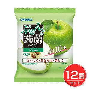 オリヒロ ぷるんと蒟蒻ゼリーパウチ 青りんご 6個入×12個セット - オリヒロ  [こんにゃくゼリー]