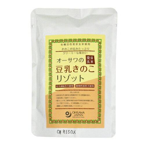 オーサワの発芽玄米豆乳きのこリゾット 180g - オーサワジャパン