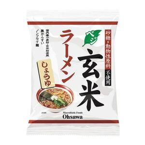 オーサワのベジ玄米ラーメン しょうゆ 112g (うち麺80g) - オーサワジャパン