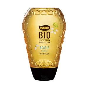 ミエリツィア アカシアの有機ハチミツ スクイーザーボトル 350g - 日仏貿易