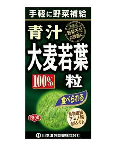 大麦若葉青汁粒100% 280粒 - 山本漢方製薬