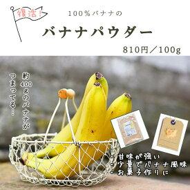 バナナパウダー 100g【サプリメントとしてもOK!!/食物繊維 粉末/バナナ 乾燥/パウダー】