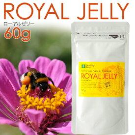 乾燥ローヤルゼリー 粉末 60g★100%天然のローヤルゼリー使用【美容 健康 サプリ サプリメント パウダー 天然 デセン酸】