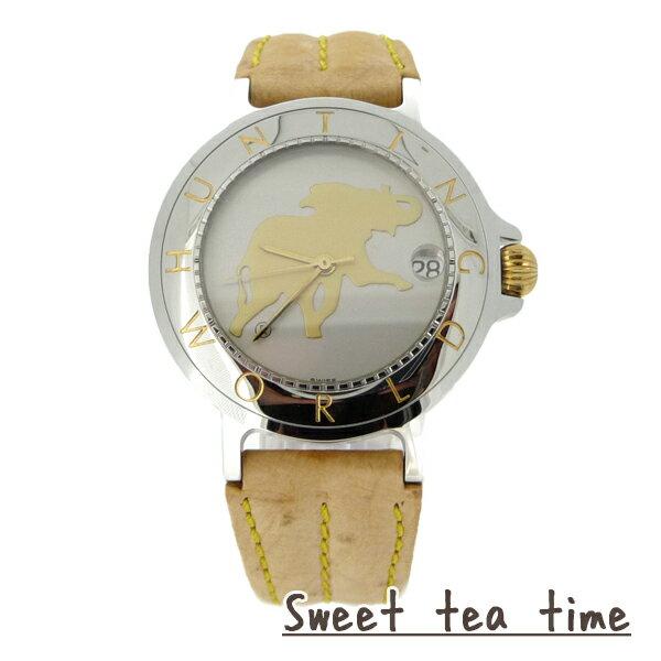 【楽天スーパーSALE20%OFF】ハンティングワールド 腕時計 メンズ HUNTING WORLD 時計 自動巻 シルバー文字盤 ウオッチ HWM-14【正規品】【送料無料】【ギフト】【P02】【SS2】