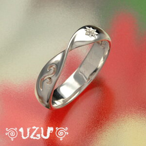 ウズ UZU 指輪 レディース RI-1131 ジュエリー アクセサリー シルバーリング 鏡面仕上げ CZ クリアー【ni】【ギフト】
