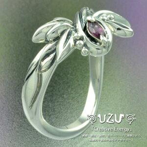 ウズ UZU 指輪 レディース RI-742 ジュエリー アクセサリー シルバーリング イブシ仕上げ ロードライトガーネット【ni】【ギフト】
