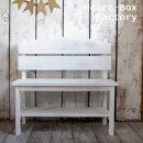 【オーダー家具】アンティーク風家具,ガーデニングベンチ,北欧家具ビンテージ,ホワイト☆アンティークホワイト