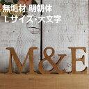 木製 アルファベット 無垢材・明朝体・Lサイズ (高さ17.5cm基準)・大文字 アルファベット オブジェ 雑貨 インテリア…