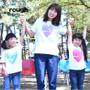 【rough】クレヨンハートPARTY キッズTEEキッズ/90/100/110/120/ハート/Tシャツ/綿/rough【HEART MARKET・ハートマー…