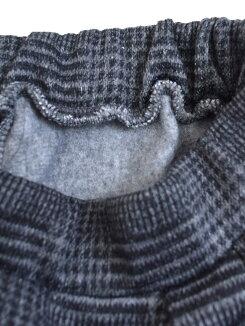 ニットフリースワイドパンツレディース,ボトムス,パンツ,チェック,グレンチェック,ツイード,冬,カジュアル,あったか素材,裏起毛