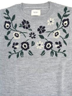 お花ジャガードプルオーバーレディース,プルオーバー,お花,,ニット,冬,人気,ナチュラル,キレイめ,カジュアル