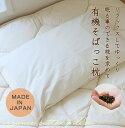 【日本製】有機洗えるそばっこ枕 + 防ダニピローケース レギュラー