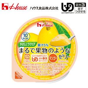 【介護食 介護食品 デザート プリン ゼリー 高齢者 老人】やさしくラクケア まるで果物のようなゼリー マンゴー / 60g