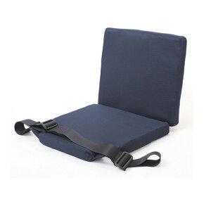 【車椅子用 クッション 車いす 介護 福祉 サポート】ラクティン フルシートタイプ 紺