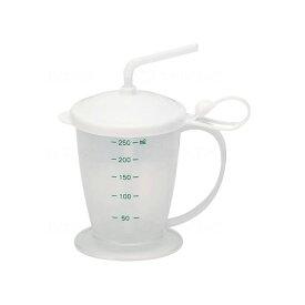 【介護用 コップ マグカップ 福祉 食事 食器 軽量】安定ストローコップ / 300mL