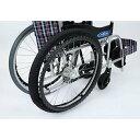 自走式車いす専用タイヤRAKUカバー 収納袋付 / SR-120B ブラック 6-22