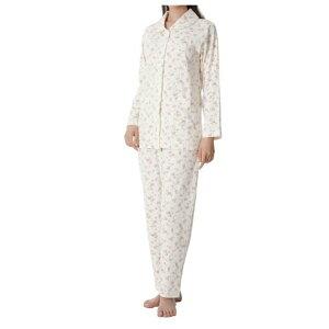 【パジャマ レディス 介護用 寝間着 女性 母の日 かわいい】神戸生絲 楽らくパジャマ(柄タイプ・スムース) 婦人用