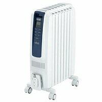 DeLonghi(デロンギ) オイルヒーター ドラゴンデジタルスマート QSD0712-MB ピュアホワイト+ブルー