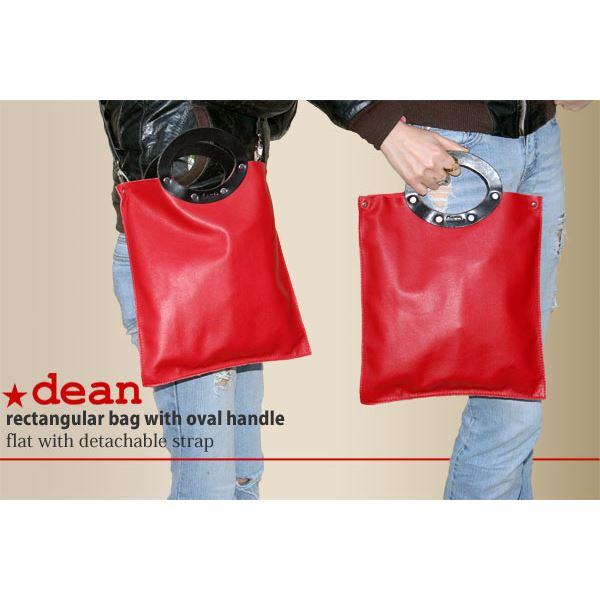 【直送品・代引不可】★dean(ディーン) rectangular bag ハンドバッグ 赤