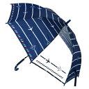 傘 子供用 55cm 飛行機 ひこうき エアメール 柄 男の子 ジャンプ傘 透明窓 小学生