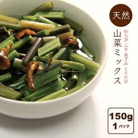 山菜ミックス水煮 150g 送料無料 国産 山菜加工品 田舎のごちそう
