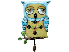 Allen Designs アレン・デザイン 老フクロウの振り子時計 Old Blue Owl ClockMichelle Allenデザイン おすすめです♪