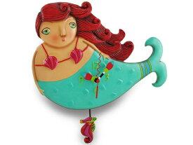 Allen Designs アレン・デザイン 人魚のルビー振り子時計 Ruby Mermaid ClockMichelle Allenデザイン おすすめです♪