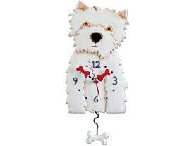 Allen Designs アレン・デザイン 犬の振り子時計 ウエスト・ハイランド・ホワイト・テリア Weston Dog ClockMichelle Allenデザイン