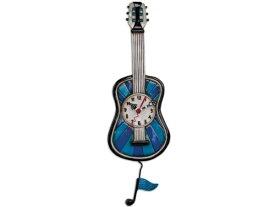 Allen Designs アレン・デザイン ギターの振り子時計 Blue Tunes Guitar ClockMichelle Allenデザイン おすすめです♪