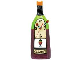 Allen Designs アレン・デザイン カベルネ・ワインの振り子時計 Wine Cabernet ClockMichelle Allenデザイン おすすめです♪