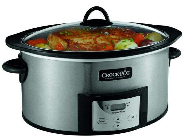 【2年保証】 Crock-Pot クロック・ポット 直火対応プログラム式オーバル・スロークッカー 5.7リットル (ステンレス) 6QT