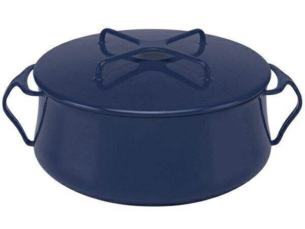 Dansk ダンスク コベンスタイル ホーロー26cm両手鍋 (ミッドナイトブルー) 6QT