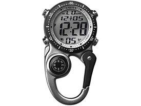 Dakota ダコタ カラビナウォッチ デジタル・クリップ時計 (シルバー) 3気圧防水・アラーム・方位磁石・クロノグラフ おすすめです♪
