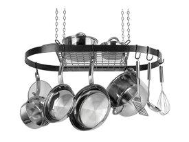 Range Kleen レンジ・クリーン オーバル・ポットラック (ブラック)お鍋やフライパンを吊るせるハンギング・ラックです♪