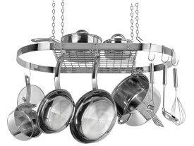 Range Kleen レンジ・クリーン オーバル・ポットラック (ステンレス)お鍋やフライパンを吊るせるハンギング・ラックです♪