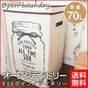 【Okato/オカトー】 オープンランドリー BOX 70L アイボリー