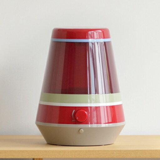 【±0/プラスマイナスゼロ】 アロマ 超音波式 加湿器 LEDライト照明 自動OFF機能付き レッド XQE-X010-R