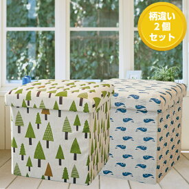 【2個セット】【EN FANCE/アンファンス】 座って しまえて 畳める 便利ボックス ツリー&ホエール
