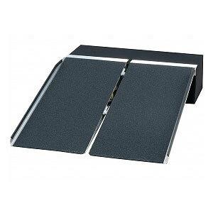 イーストアイ ポータブルスロープ アルミ2折式タイプ PVS120【車椅子 スロープ 車いす 車イス 段差解消 玄関用 階段用 】