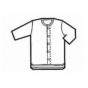グンゼ グンゼ7分袖クリップシャツ 紳士用 S,M,L HW6118【介護 入院用 前開き 肌着 下着 メンズ  入院 病院 着替え 白 マジックテープ】