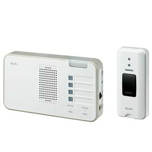 朝日電器 ワイヤレスチャイム受信器ランプ+押しボタン送信器セット EWS-S5230【介護用品 通報 意思伝達関連 徘徊センサー ナースコール 呼び出し】