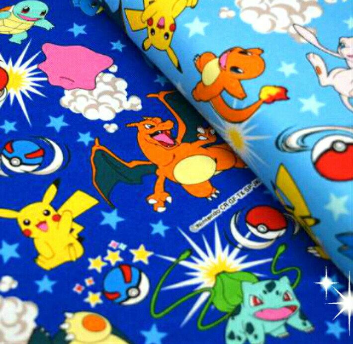 POCKET MONSTERS「ポケモンの仲間たち」 ポケットモンスター/ポケモン/生地/布/入園入学/入園グッズ/ピカチュー