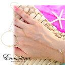 【あす楽】Enasoluna(エナソルーナ) Cross on the skin bracelet【BS-943】 ブレスレット クロス シルバー スキン ブレスレット・アンクレット
