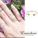 期間限定15%OFF! Enasoluna エナソルーナ Twin dia ring RG-962 K10 10金 Diamond 0.04ct ダイアモンド ダイヤモンド…