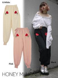 セール50%OFF! Honey mi Honey ハニーミーハニー satin rose pants 17秋冬17A-WV-07 パンツ