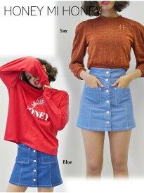 夏セール60%OFF! Honey mi Honey ハニーミーハニー denim miniskirt 19春夏 19S-SW-08 タイトスカート