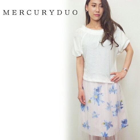 【あす楽】MERCURYDUO マーキュリーデュオ ドライタッチオフショルカットソー 16春夏.【1620600101】 カットソー