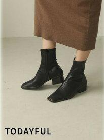 ポイント5倍! TODAYFUL トゥデイフル Stretch Leather Boots 20秋冬.予約 12021029 ブーツ 20冬受注会 20冬アイテム