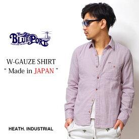 シャツ カジュアルシャツ メンズ 長袖 ガーゼシャツ 日本製 国産 MADE IN JAPAN ふんわり 柔らか HEATH. ヒース BLUEPORT ブルーポート 横浜 大人 アメカジ イタカジ