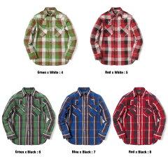 ヴィンテージ加工の日本製ウエスタンチェックシャツ